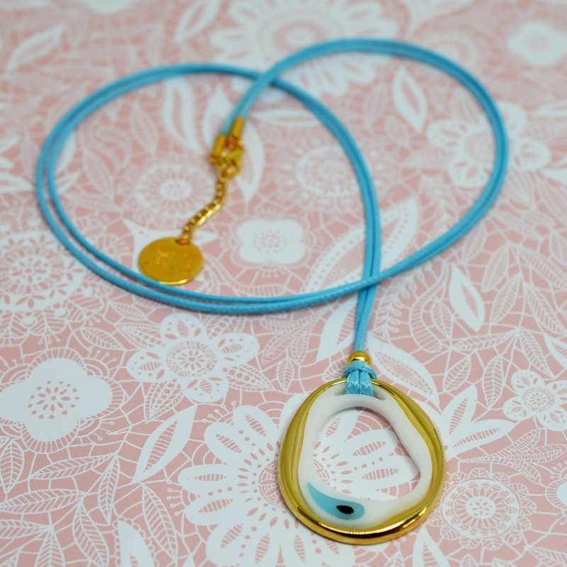 "Long Necklaces element ""evil eye"""