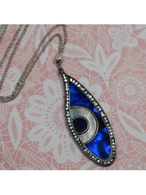 "Long Necklaces element ""evil eye"" Swarovski Elements."