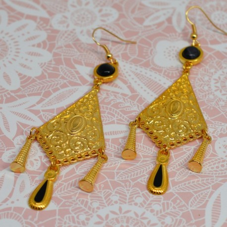 Earrings gold ethnic