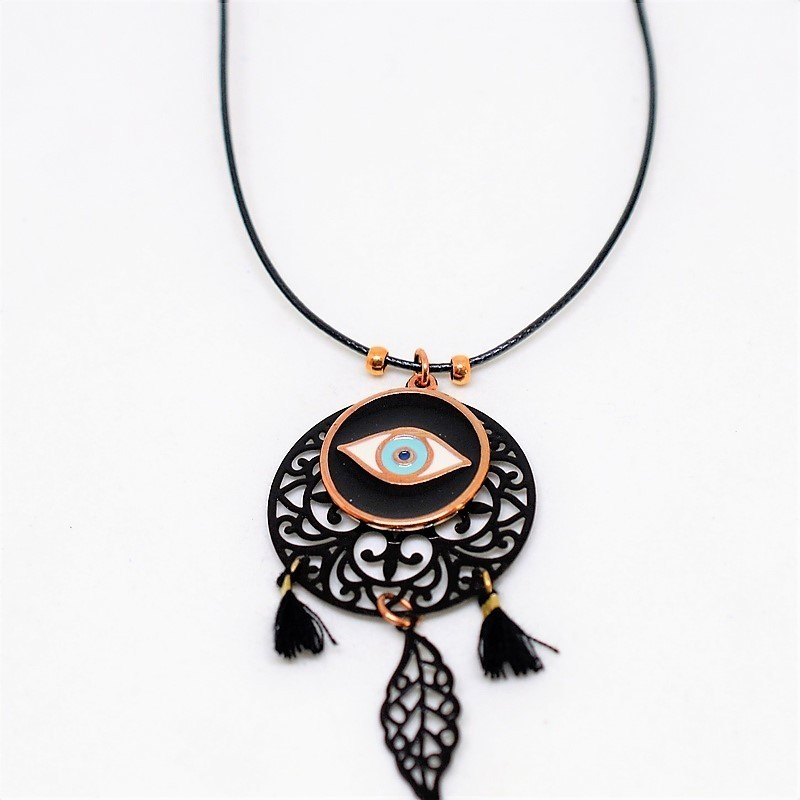 Black and rose gold necklace