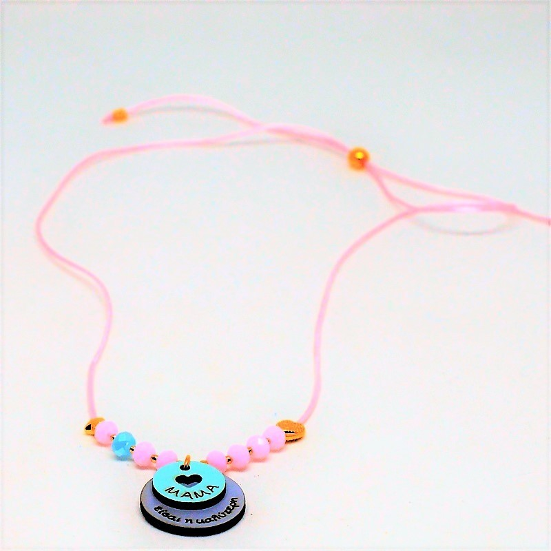 Necklace '' Mama '' Rose opal