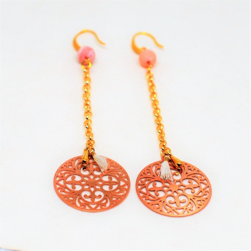 Laser cut / rose gold / gold earrings
