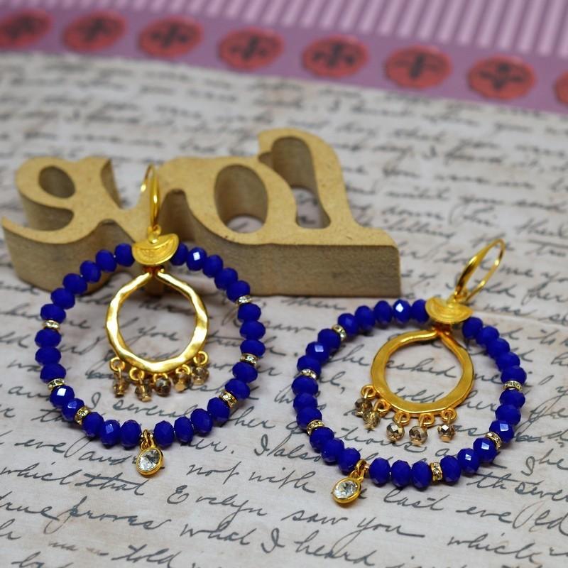Σκουλαρίκια rings Blue/Greige