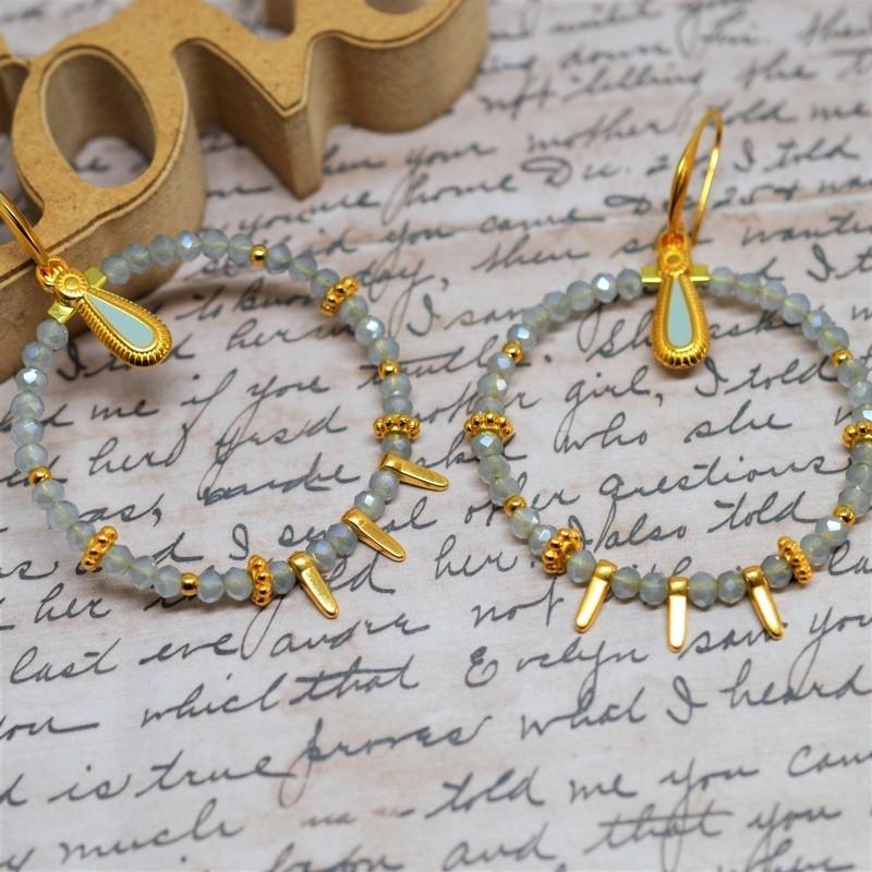 Σκουλαρίκια earrings Grey / Gold
