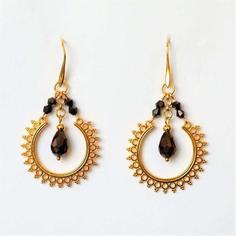 Earrings Mocha / Gold
