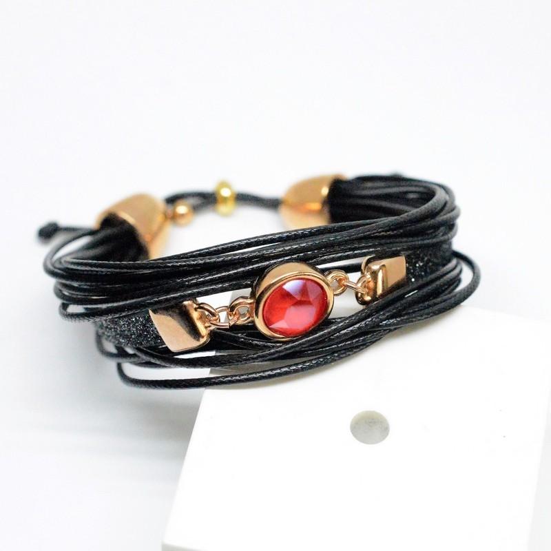 Βραχιόλι Πολύσειρο /Rose Gold/Swarovski Light Siam V1618