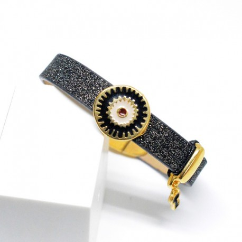 Βραχιόλι Black Glitter V1626