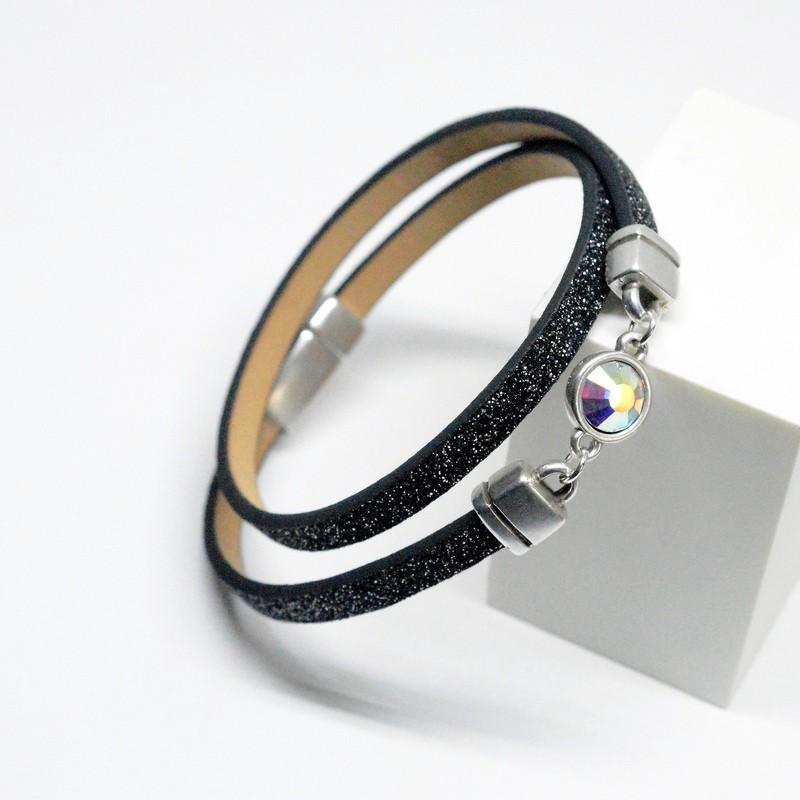Βραχιόλι Mesh Metallic / Swarovski Light Siam V1641