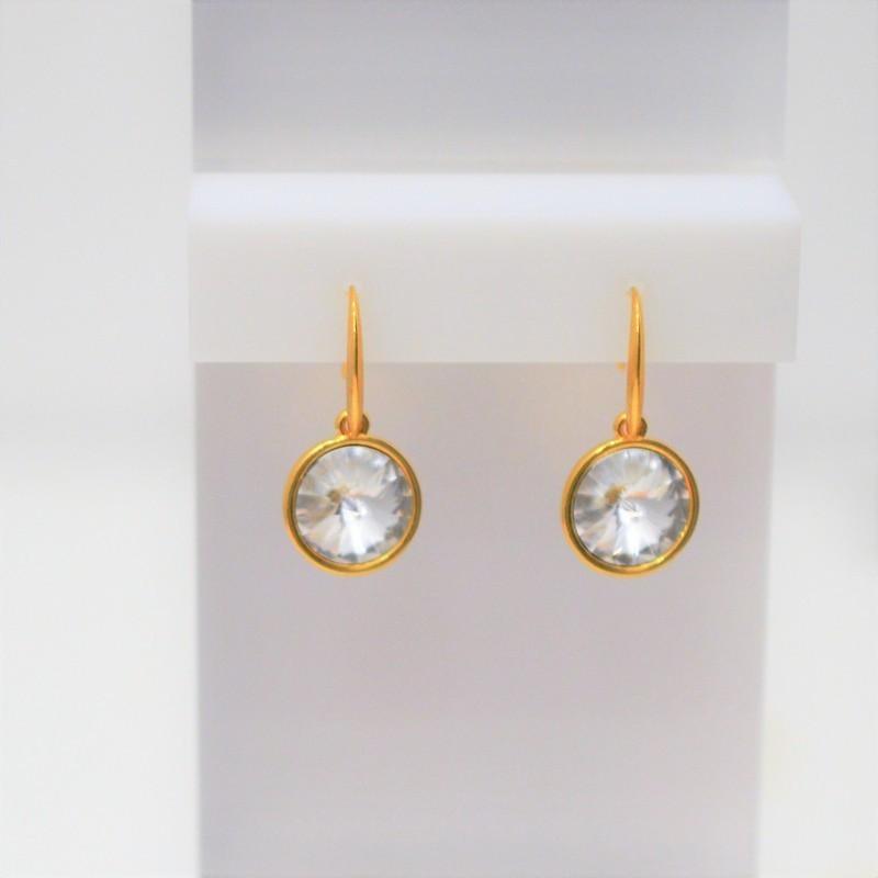 Σκουλαρίκια Gold/Swarovski Crystal S3354