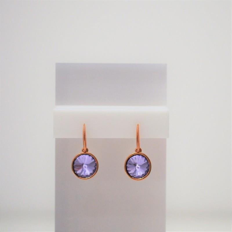 Σκουλαρίκια Rose Gold/Swarovski Violet S3356