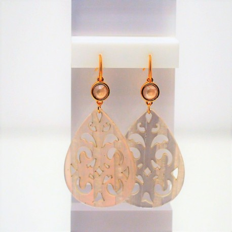 Σκουλαρίκια Acrylic Gold/Swarovski Crystal Opal S3371